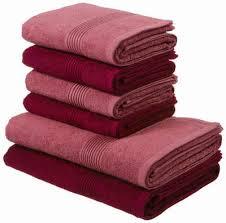 my home handtuch set set 6 tlg mit gestreifter strukturbordüre