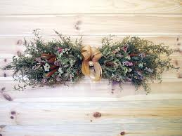 RUSTIC Country Dried Flower Swag
