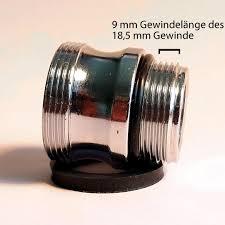 wasserhahn wasserhahn strahlregler adapter m18 5 auf m22