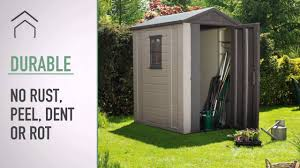 keter factor 4x6 shed youtube