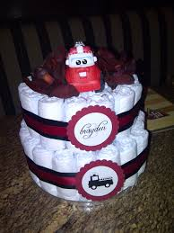Fire Truck Diaper Cake - I Made This For A Dear Friend Of Mine. Used ... Fire Truck Baby Shower Invitation Etsy Thank You Card Decorations Ideas Barksdale Blessings Firefighter Invitations Unique We Still Do New Cards For Theme Babyshower Cakecentralcom Truckbaby Shower Cake Fighter Boy Pinterest The Queen Of Showers Dalmations Firetrucks Cake Queenie Cakes
