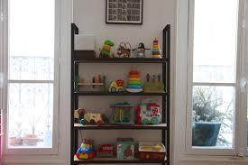 kleines regal küche oder wohnzimmer in stahl und holz