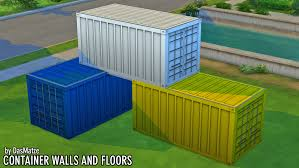 100 Shipping Container Floors Mod The Sims Walls And