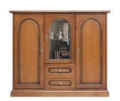 highboard massiv holz in klassischen stil möbel anrichte für küche wohnzimmer flur 2 holztüren 1 glastür 2 schubladen einrichtungshaus