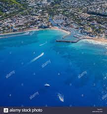 100 Birdview Of Harbour Of SaintGilles Les Bains La Reunion Stock