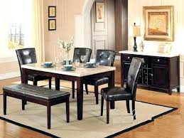 Marble Top Dining Room Table Kitchen Set 6 White