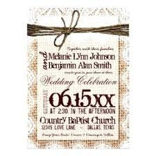 Rustic Burlap Wedding Invitations Australia Diy