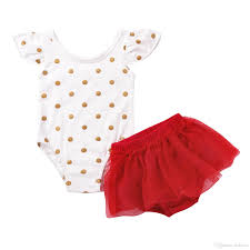 2017 2017 summer cute baby girl clothes mikrdoo polka dot