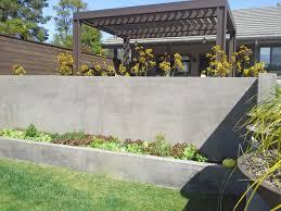 Concrete Retaining Wall Ideas For Attractive Garden Landscape Simple Backyard