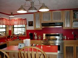 Image Of Harmonious Theme Red Kitchen Countertops And Backsplash