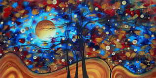 Abstract Art Original Landscape Painting Bold Circle Of Life