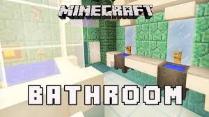 minecraft tutorial how to make a modern bathroom design coral