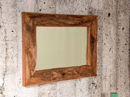 teak wurzelholz spiegel kokoda rechteckig groß wandspiegel