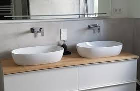 waschtischplatten aus europäischem holz mit weißen