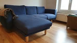 ikea norsborg 3er sofa recamiere finnsta blau birke sitzecke