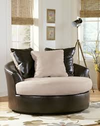declain oversized swivel accent chair in sand furniture
