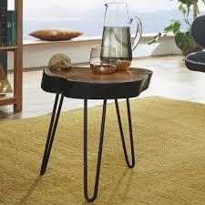 möbel beistelltisch holz opium tisch massivholz wohnzimmer