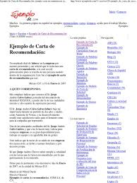 Ejemplo De Carta De Recomen