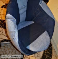 Skruvsta Swivel Chair Black by Diy Ikea Hack On The Skruvsta Swivel Chair Done Denim Style