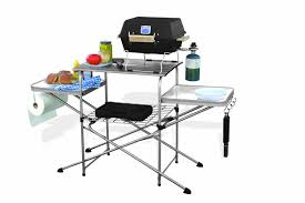 Coleman Portable Sink Uk by Review Camco 57293 Deluxe Grilling Table Youtube