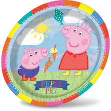 Peppa Pig With Stars Pumpkin Stencil by Peppa Pig Paper Plates 8 Pack Hobbycraft