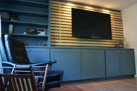 Ikea Mandal Headboard Instructions by Diy Wood Slats Tv Accent Wall Reimagine Designs