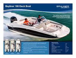 190 deck boat bayliner pdf catalogues documentation