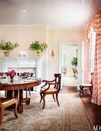 A 19th Century American Empire Table And Chairs Converge In The Dining Room Of