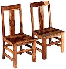 festnight 2x esszimmerstühle küchenstuhl stuhl set massives sheesham holz