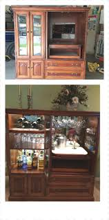 family heirloom conversion from entertainment center to bar home