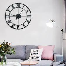 wanduhr metall wand wohnzimmer uhr dekouhr gescht vintage