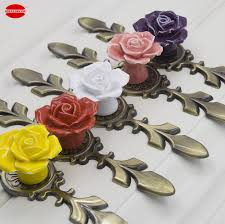 Pink Decorative Dresser Knobs by Popular Floral Knobs Buy Cheap Floral Knobs Lots From China Floral