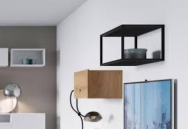 regalfach wandregal wohnzimmer 60cm metallrahmen schwarz