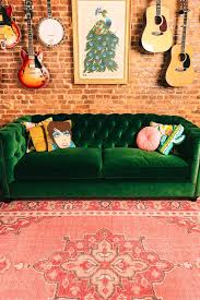 green velvet couch with music accents uohome pinterest