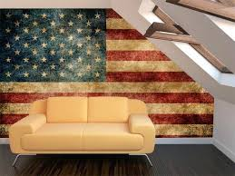 American Flag Wallpaper For Walls Vintage Wall Mural Rustic Living Room