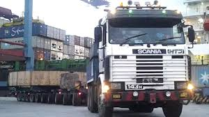 Oversize Load Scania Truck Loading Transporting Mechanical Ring Part ...