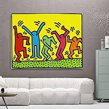 mode leinwand malerei kunst keith haring abstrakte malerei plakate und drucke dekorative gemälde wandkunst für wohnzimmer schlafzimmer ungerahmt 60
