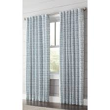 Light Filtering Privacy Curtains by Shop Allen Roth Nelliston 63 In Indigo Polyester Back Tab Light