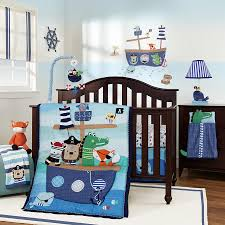 Lambs Ivy Little Pirates 5 Piece Cot Set