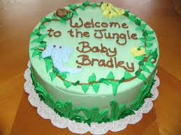 Voguish Baby Shower Jungle Cakes Images Baby Showers Decoration