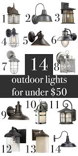 farmhouse industrial craftsman rustic outdoor wall lights