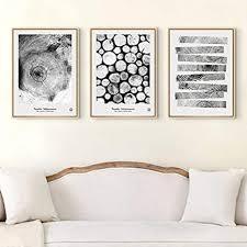 minimalismus schwarz weiß bäume kreis leinwandbilder drucke