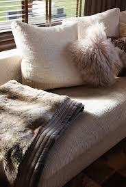 helles sofa mit kissen und decke in bild kaufen