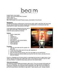 Lava Lamp Science Project Results by Making A Lava Lamp Lesson Plans U0026 Worksheets Reviewed By Teachers