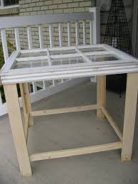 Make Outdoor End Table by Joys Of Home This Old Window