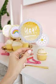 Easy Photo Cupcake Topper DIY A Beautiful Mess