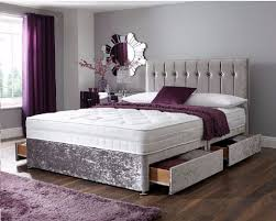bedroom types of beds with grey tufted headboard also laminate