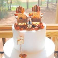 SALE Fall Country Rustic Wedding Cake Topper By Memoriesnminiature