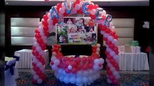 White Red Balloon Decoration For Birthday Party Ideas At Home