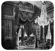 napoleon bonapartes schlafzimmer im schloss fontainebleau in fontainebleau frankreich 19 jahrhundert stock vektor und mehr bilder 19